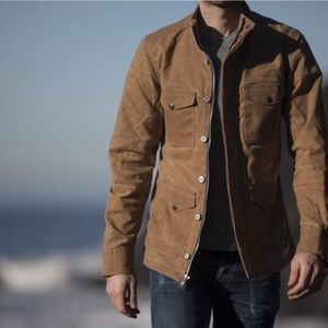 Gustin Field Jacket Waxed Cotton Military Large